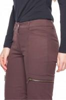 Brązowe-bawełniane-spodnie-z-kieszeniami-Rabarbar-1