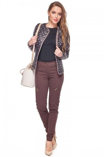 5edfa351cf Brązowe-bawełniane-spodnie-z-kieszeniami-Rabarbar