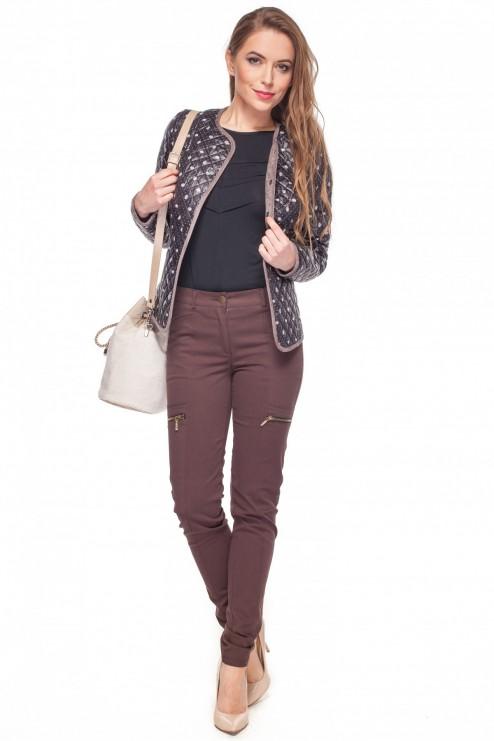 Brązowe-bawełniane-spodnie-z-kieszeniami-Rabarbar