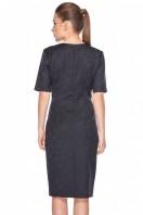 Czarna-sukienka-w-kwiatowy-wzór-Bialcon-3