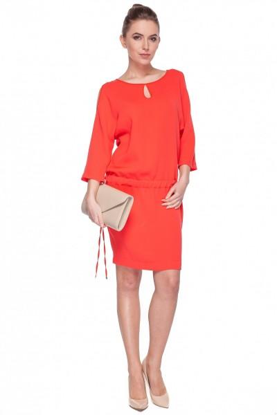 Czerwona-sukienka-z-odkrytymi-ramionami-De-Facto