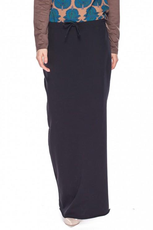Długa spódnica w kolorze czarnym – Rabarbar