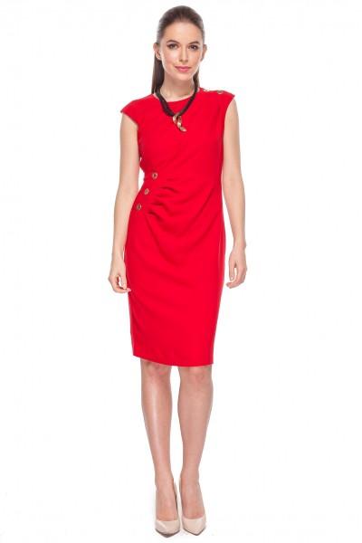 Efektowna-czerwona-sukienka-De-Facto