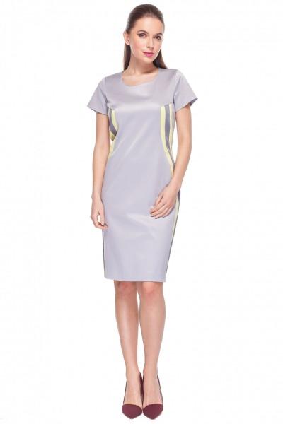 ca100d3cca Fioletowa-sukienka-z-lampasami-De-Facto