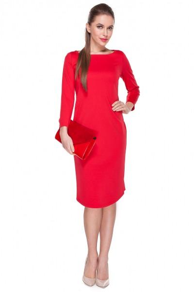 Klasyczna-czerwona-sukienka-ołówkowa-Darksus