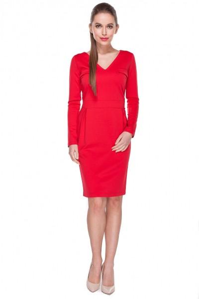 Klasyczna-czerwona-sukienka-w-stylu-business-Darksus