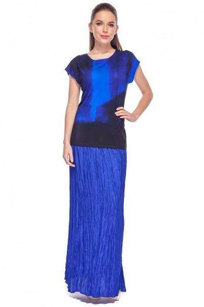 Kobaltowa-plisowana-spódnica-Bialcon