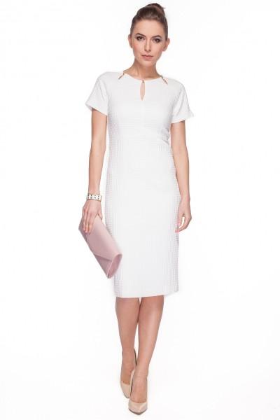 Kremowa-sukienka-z-łezkami-przy-dekolcie-De-Facto