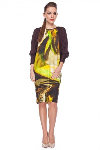 Sukienka-z-kolorowym-wzorem-Bialcon