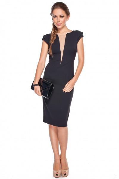 Sukienka-z-tiulową-wstawką-GaPa-Fashion