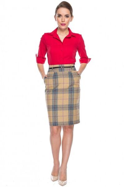 Taliowana-czerwona-koszula-Duet-Woman